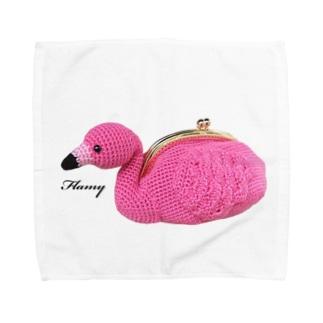 フラミーちゃん Towel handkerchiefs