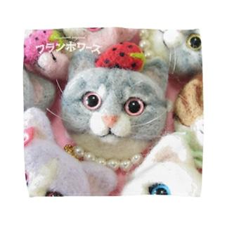 じっとみつめる猫ちゃん Towel handkerchiefs