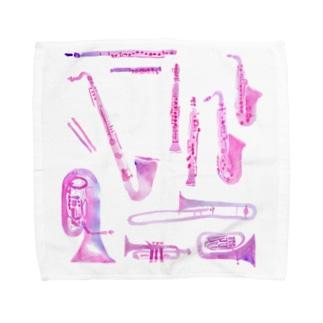 gakki-pink Towel handkerchiefs