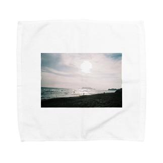 冬の七里ヶ浜 Towel handkerchiefs