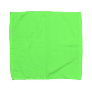 黄緑色 タオルハンカチ