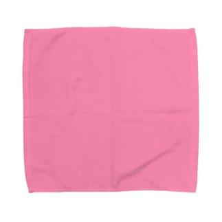 ピンク タオルハンカチ