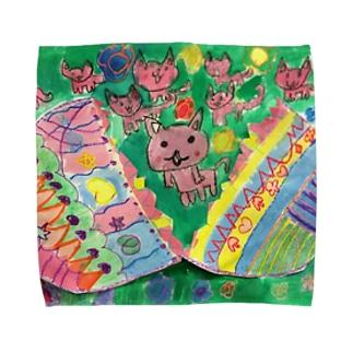 パカパカねこ Towel handkerchiefs