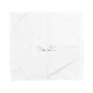 お散歩中に出会った猫ちゃん Towel handkerchiefs