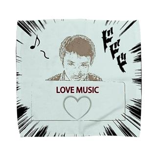 ダーク良太(LOVE MUSIC) タオルハンカチ