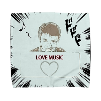 ダーク良太(LOVE MUSIC) Towel handkerchiefs