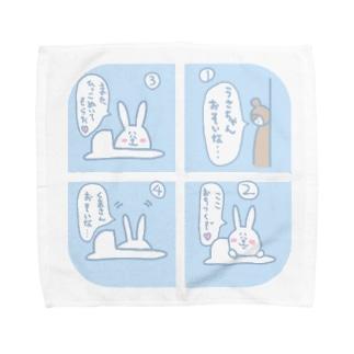 うさぎ_トイレ/Lサイズ専用 Towel handkerchiefs