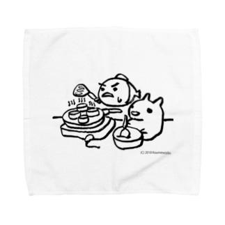 パンケーキをつくる小梅うさぎと桃子さかな Towel handkerchiefs