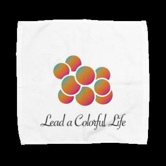 DEEPDRILLEDWELL@井戸の中のColorful Grapes Towel handkerchiefs