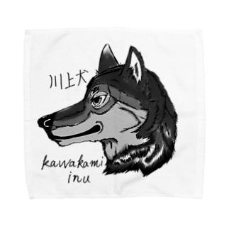イケメン日本犬 川上犬 Towel handkerchiefs