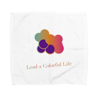 DEEPDRILLEDWELL@井戸の中のColorful Grapes ver2.0 Towel handkerchiefs