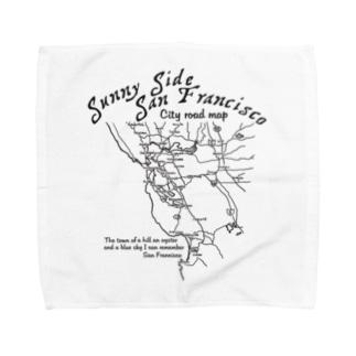 CITY ROAD MAP Towel handkerchiefs