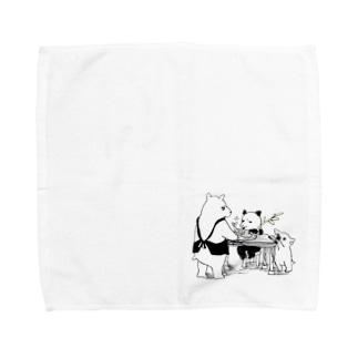 偏食ブラザース Towel handkerchiefs
