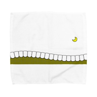 歯-HA yellow Towel handkerchiefs