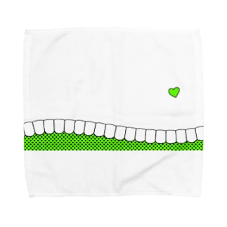 歯-HA green Towel handkerchiefs