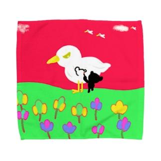鳥キャンパス Towel handkerchiefs