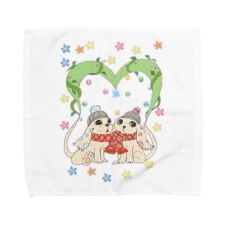 dog heart Towel handkerchiefs