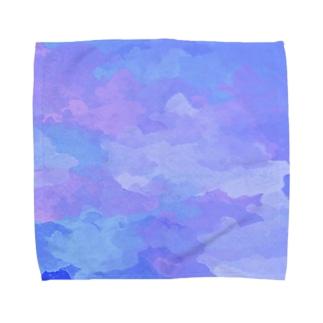 水彩ビビッドパープルブルー Towel handkerchiefs