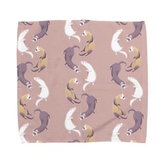 ferret(pink brown) Towel handkerchiefs