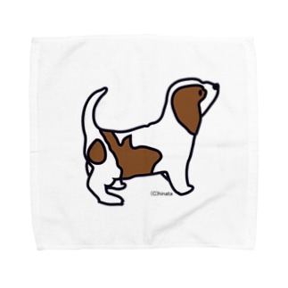 子犬 タオルハンカチ