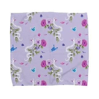 anemone(lavender) Towel handkerchiefs