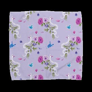 Fanfleecyのanemone(lavender) Towel handkerchiefs