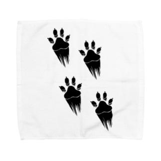 走り抜ける犬 Towel handkerchiefs