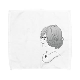 眼鏡女子 Towel handkerchiefs