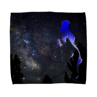 青い月 Towel handkerchiefs