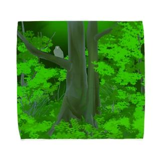 シマフクロウの森 Towel handkerchiefs