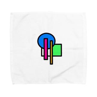 まるとしかくのそれっぽい Towel handkerchiefs