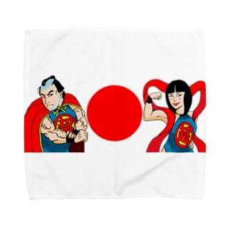 超太郎と超姫様 Towel handkerchiefs