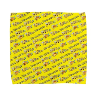 YELLOW JUNKIU 総柄(衝突事故) Towel handkerchiefs