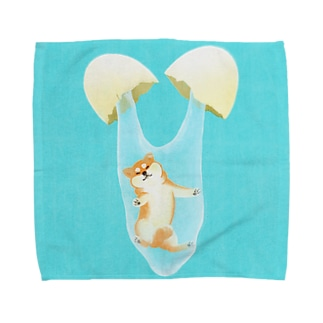 卵から柴犬!? Towel handkerchiefs