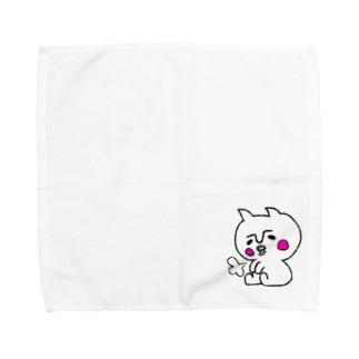 ふぬけ(白黒) Towel handkerchiefs