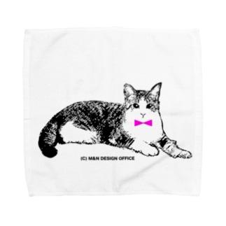 ネクタイ猫ちゃん Towel handkerchiefs