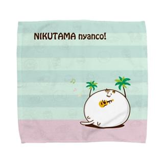 肉玉にゃんこ in ホノルル Towel handkerchiefs