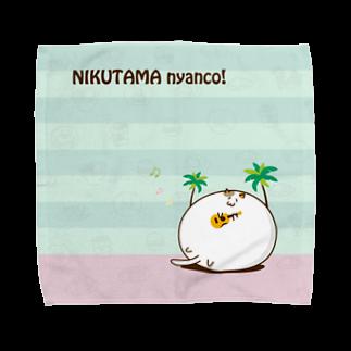 nyanco!の肉玉にゃんこ in ホノルル タオルハンカチ