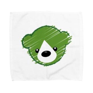 くまさんロゴマーク Towel handkerchiefs