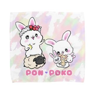 ぽんぽこ Towel handkerchiefs