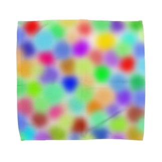 colorful mosaic タオルハンカチ