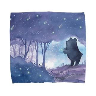 星降る森のくまさん タオルハンカチ