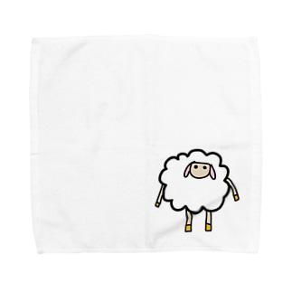 羊のコットン タオルハンカチ