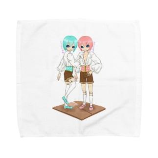 そーだ姉弟 Towel handkerchiefs