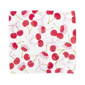 さくらんぼホイップ Towel handkerchiefs