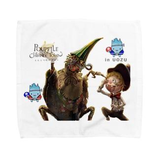 えんとつ町のプペルIN魚津 Towel handkerchiefs