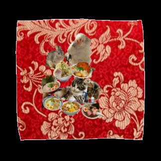mnto雑貨洋品店の〆のラーメン屋 赤 Towel handkerchiefs