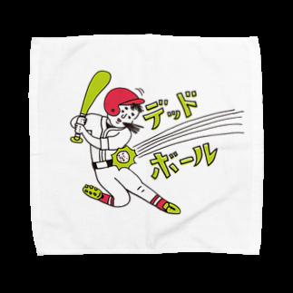 OKAMEの野球シリーズ デッドボール Towel handkerchiefs