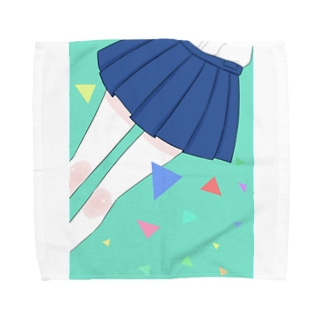 スカート(エメラルド) Towel handkerchiefs
