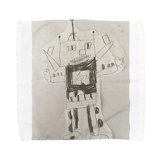 ロボット タオルハンカチ